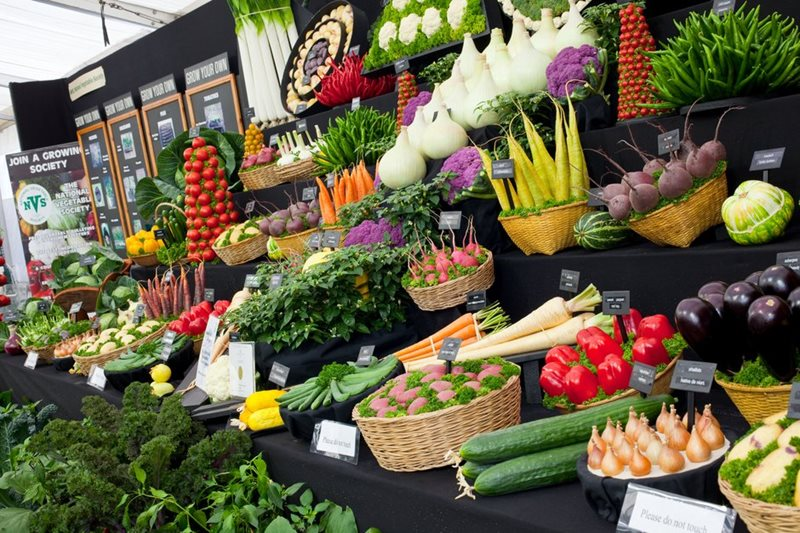 The National Vegetable Society display