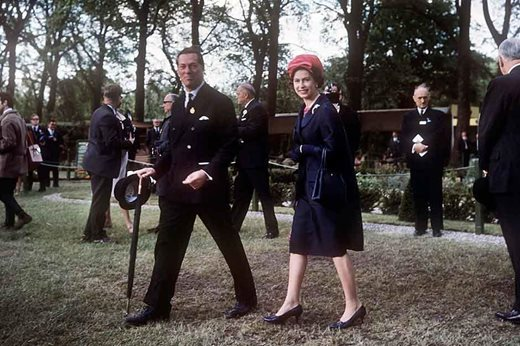 3rd Lord Aberconway with Queen Elizabeth II at Chelsea