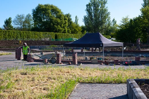 Working on the foundations for the glasshouse