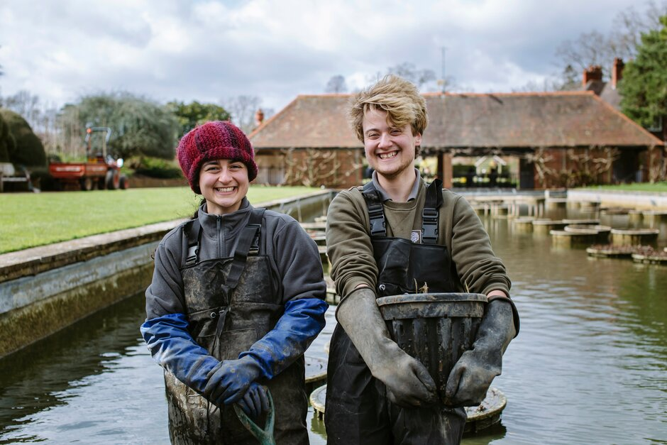 Horticultural apprentices at Wisley