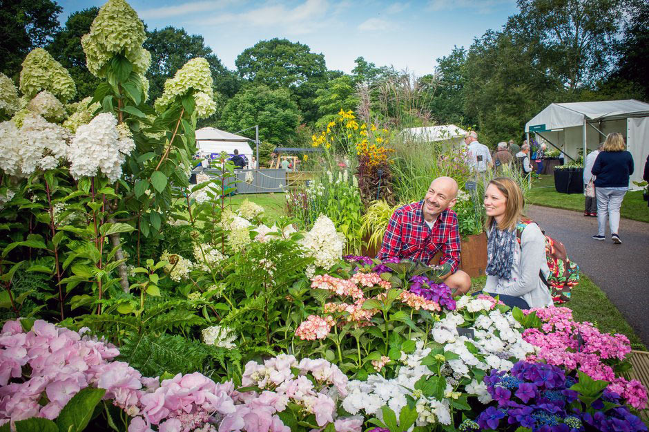 Mother and daughter at an RHS Flower Show