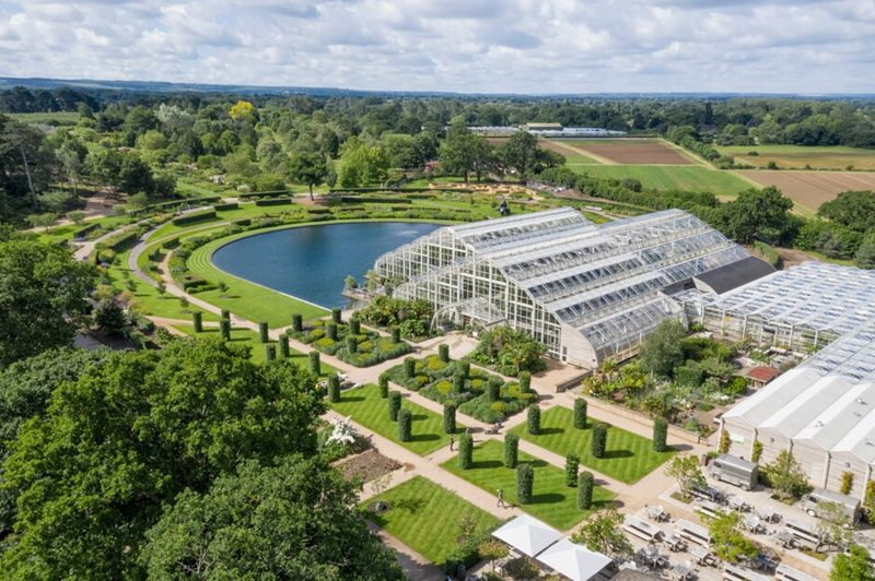 The Glasshouse and Lake at RHS Garden Wisley