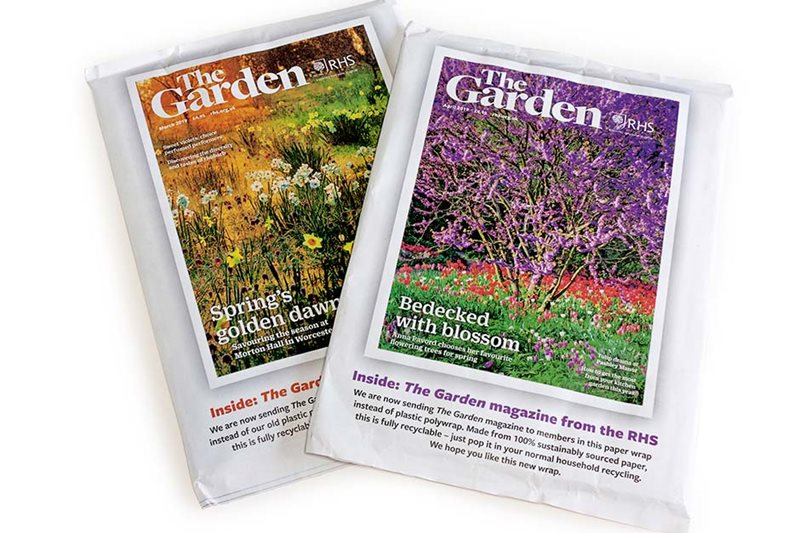 The Garden magazine in its paper wrap
