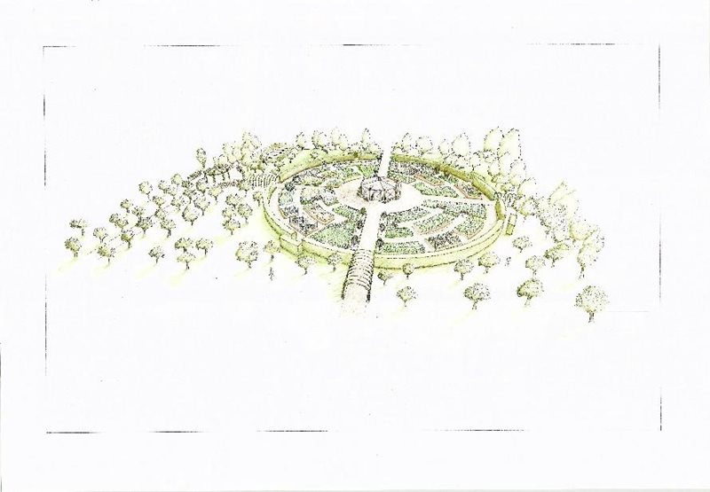 Artist's impression of the new garden