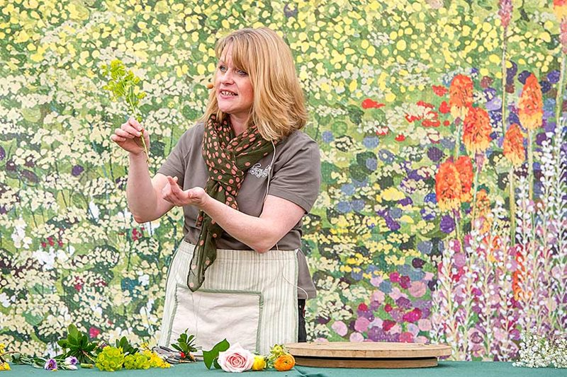 Speaker Sharon Dower in the Talks Theatre at the RHS Flower Show Cardiff