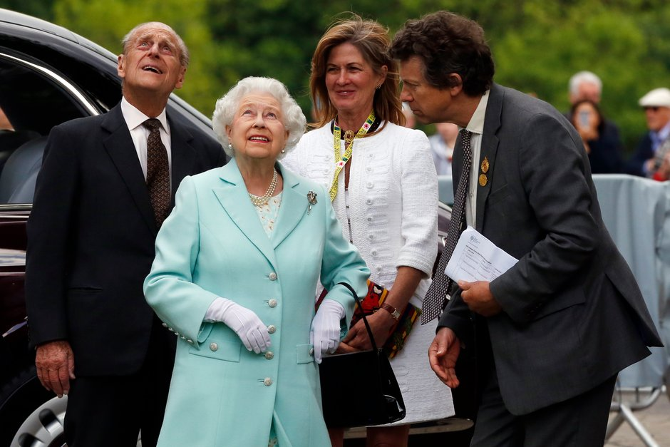 The Duke of Edinburgh with Her Majesty The Queen at RHS Chelsea Flower Show