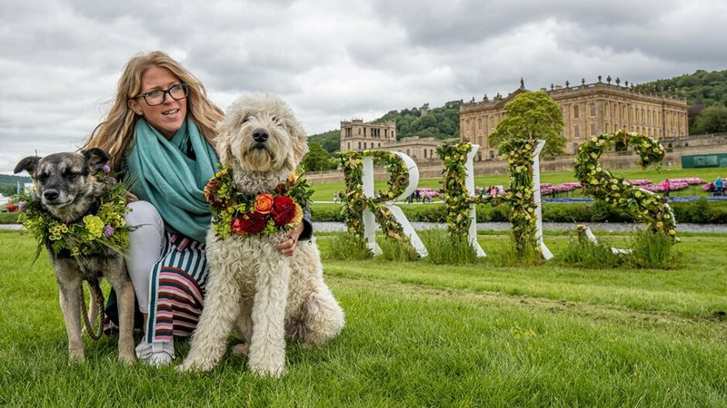 RHS Letters in front of Chatsworth House