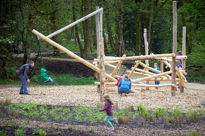 Families explore Woodland Play