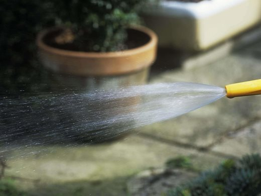 water from hose
