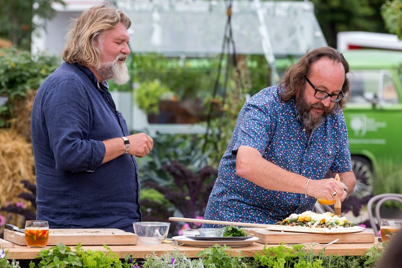 The Hairy Bikers giving a demonstration