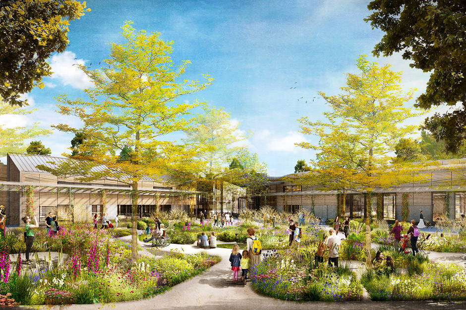 Artist's impression of the National Centre for Horticultural Science and Learning